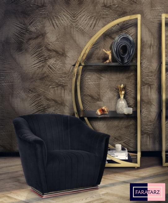 مبلمان و قفسه لوکس در فضای داخلی لوکس