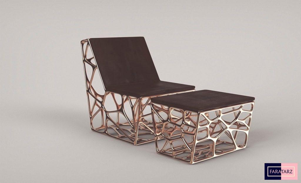 صندلی مدرن ساخته شده با پرینت 3 بعدی