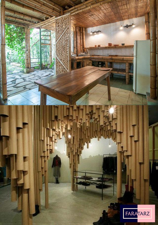 طراحی پایدار با استفاده از متریال طبیعی و بازیافتی در فضاهای داخلی