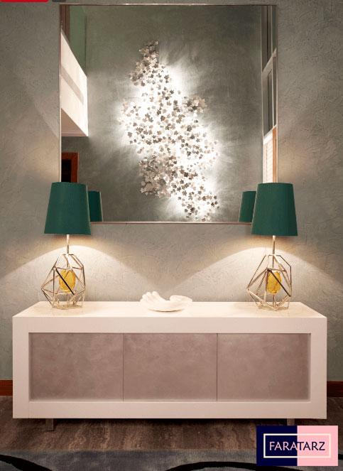 نورپردازی زیبا و شیک در فضاهای داخلی لوکس