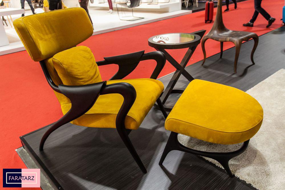 صندلی و میز چوبی مدرن