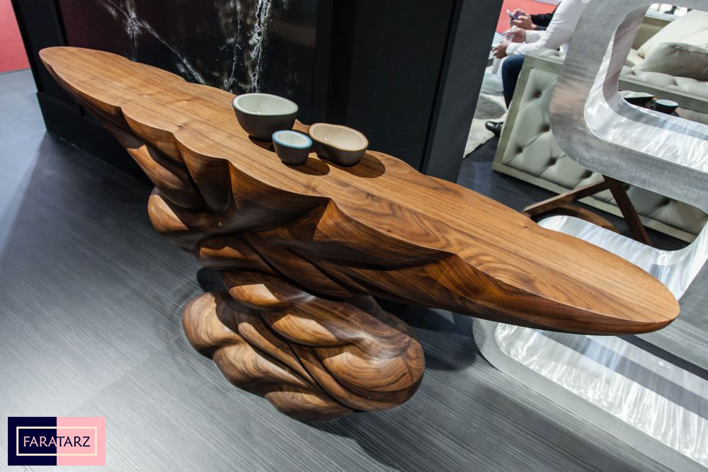 میز تمام چوبی گردویی