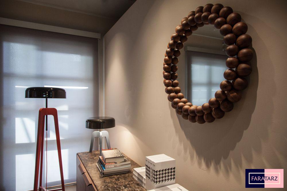 آینه و کنسول چوب گردویی