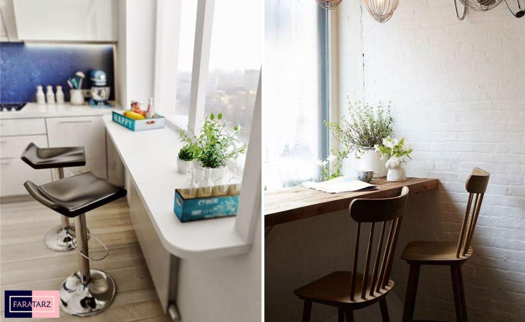 میز کار پنجره ای آشپزخانه