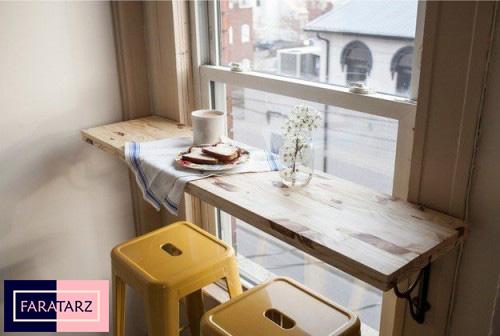 میز پنجره آشپزخانه
