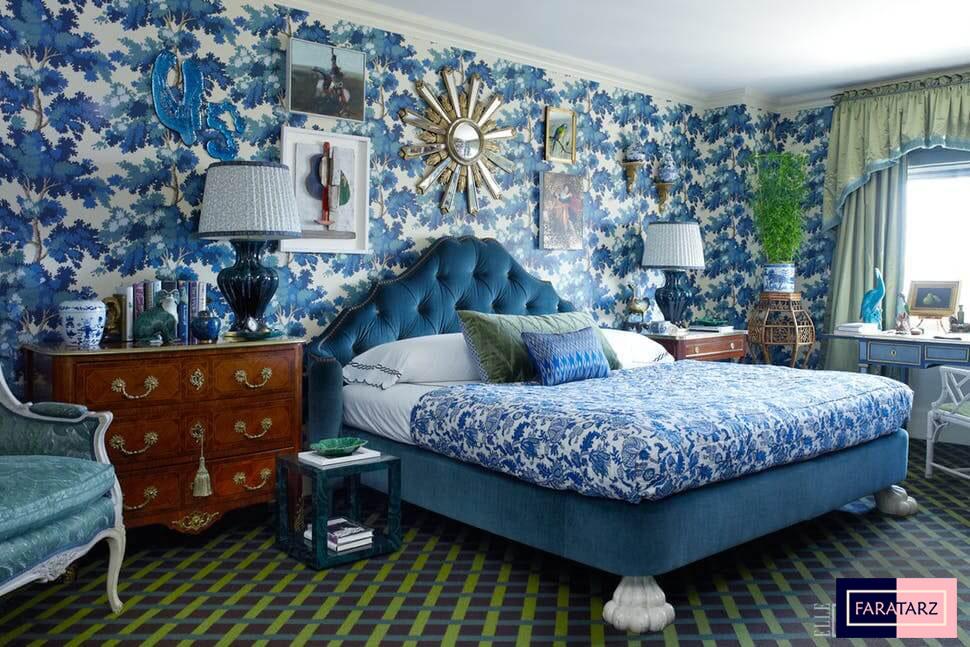 اتاق خواب مستر با رنگ سرد
