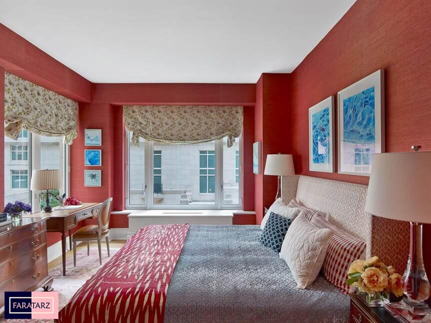 اتاق خواب مستر با رنگ گرم شاد13