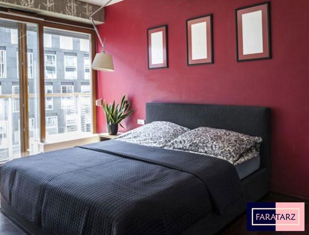 اتاق خواب مستر با رنگ های ترکیبی2