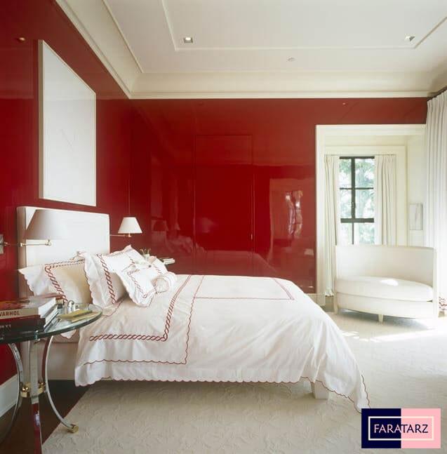 اتاق خواب مستر با رنگ های ترکیبی