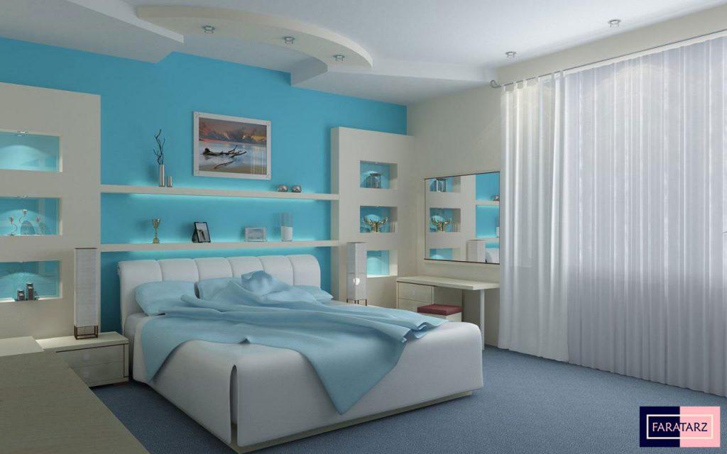 اتاق خواب مستر با رنگ سرد3
