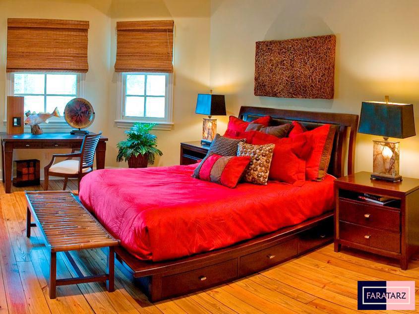 اتاق خواب مستر با رنگ گرم شاد6