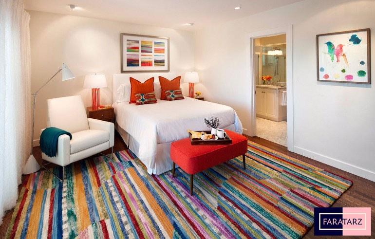 اتاق خواب مستر با رنگ گرم شاد1