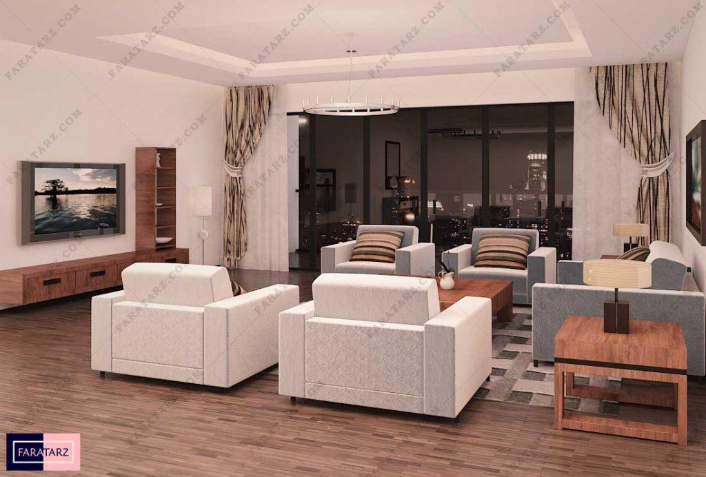 طراحی داخلی فضای نشیمن خانه 1