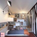 تبدیل اتاق ۱۲ متری به سوییت بسیار کوچک