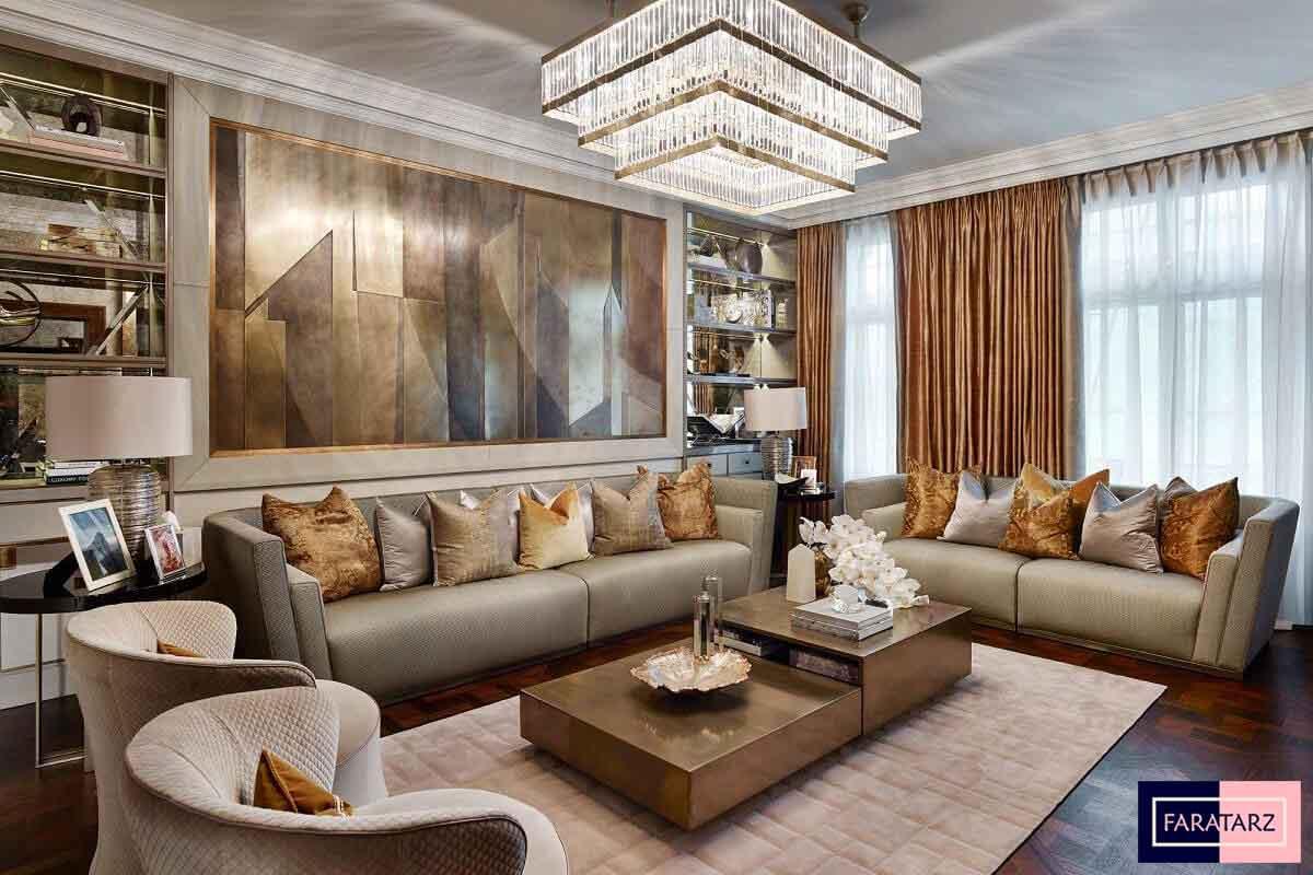 طراحی داخلی خانه لوکس