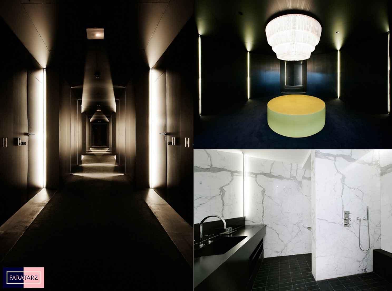 طراحی داخلی هتل لوکس در اسپانیا