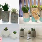 ساخت گلدان بتنی زینتی دستساز برای گیاهان خانگی