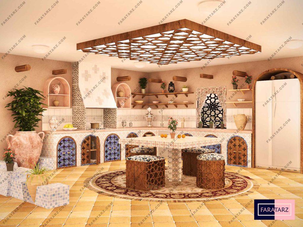 طراحی آشپزخانه سنتی ایرانی