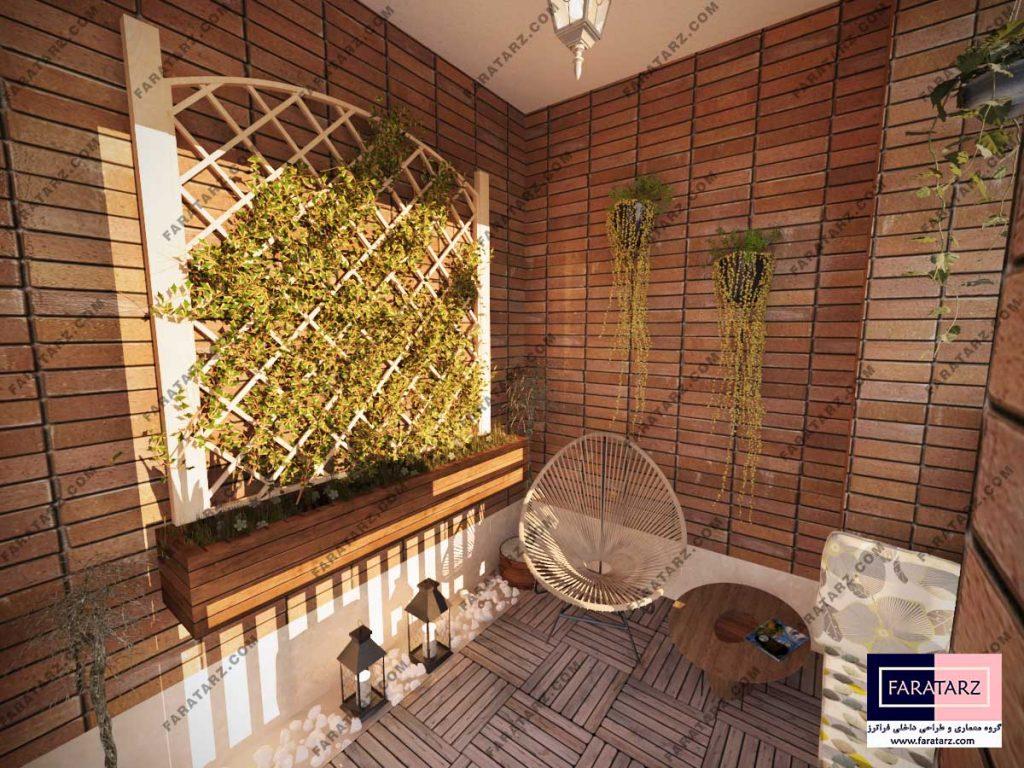 طراحی داخلی بالکن آپارتمان- بعد از طراحی