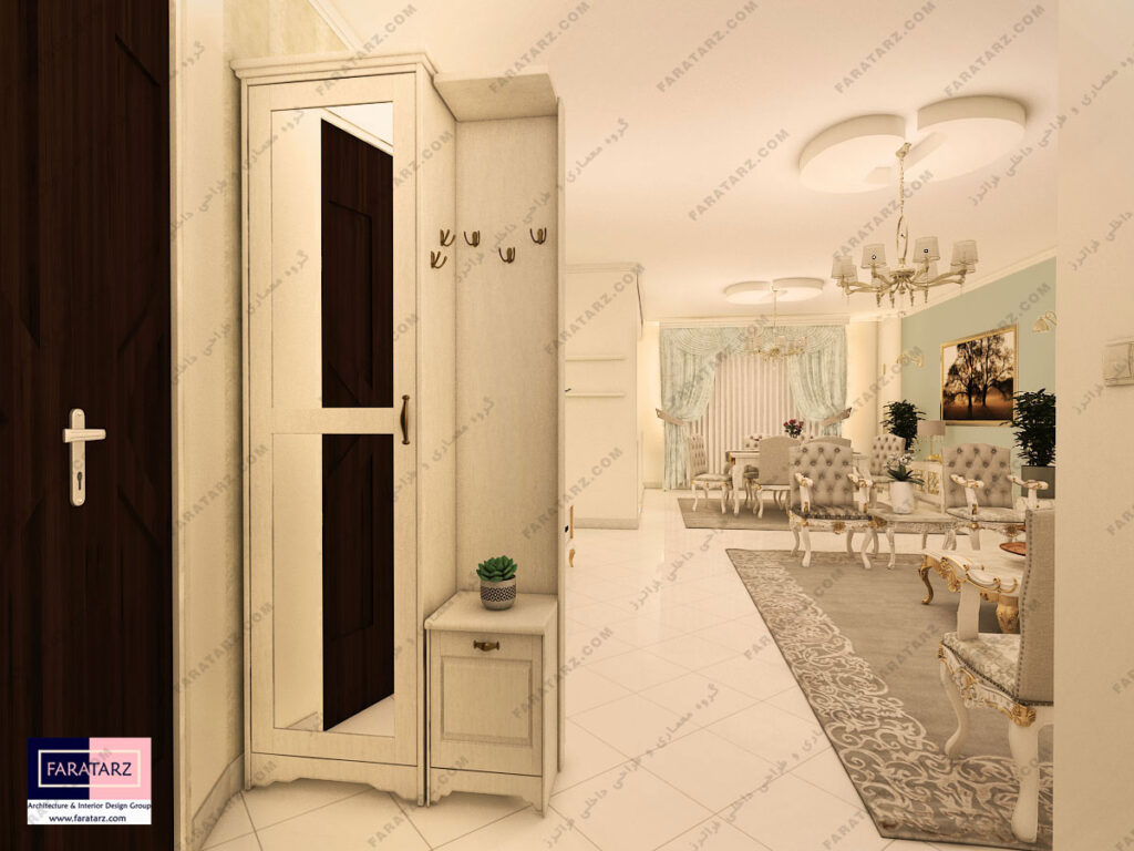 مشاوره طراحی دکوراسیون داخلی ورودی آپارتمان کرج