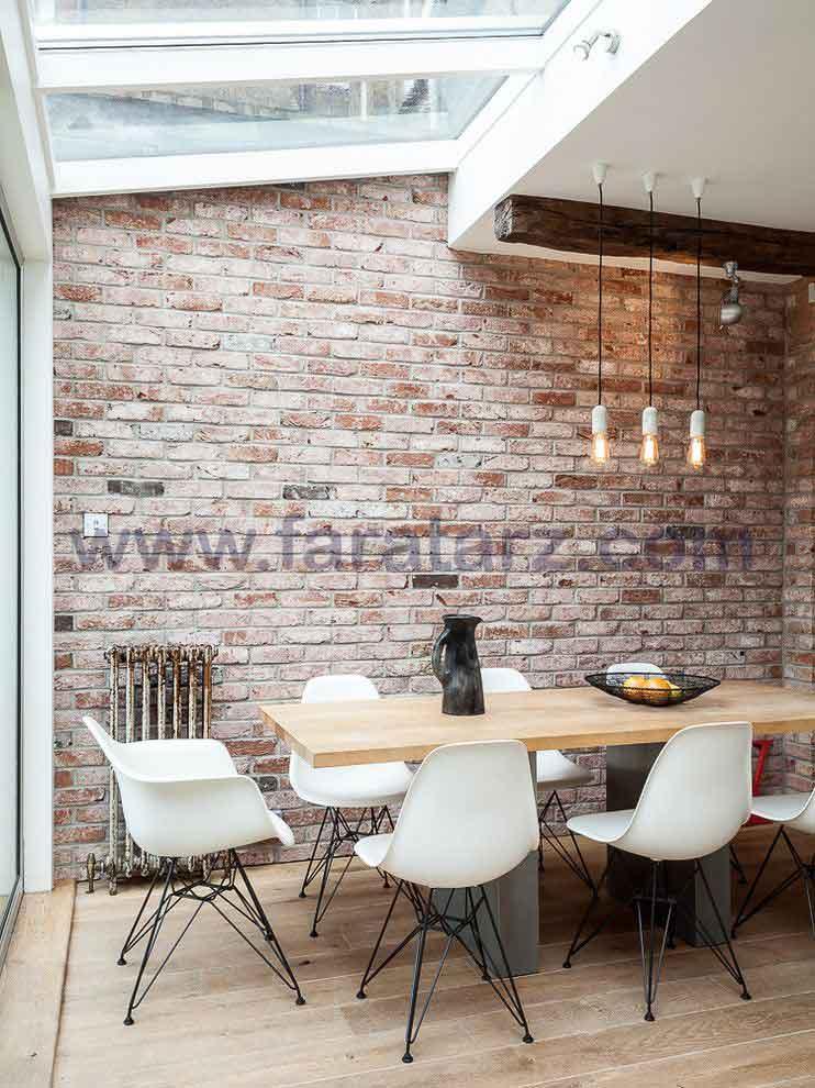 نکات کاربردی دیوارهای آجری در فضای غذاخوری