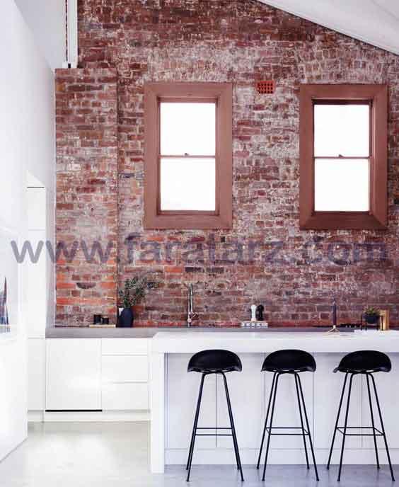 مهم ترین نکات کاربردی دیوارهای آجری در آشپزخانه
