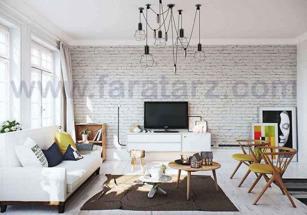 نکات کاربردی دیوارهای آجری سفید رنگ در معماری داخلی