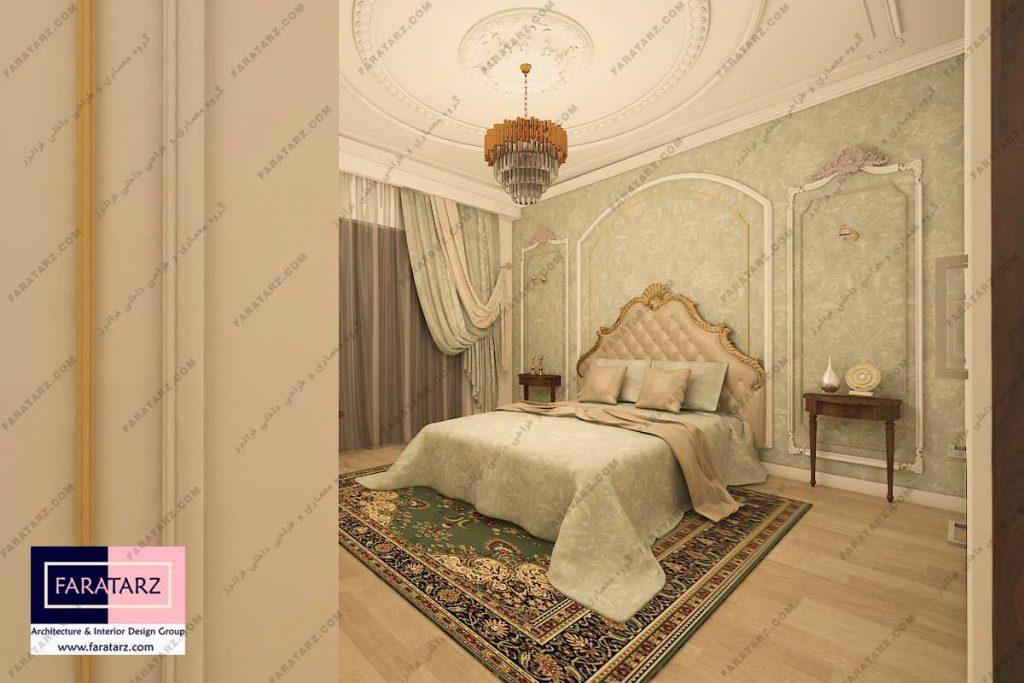 مشاوره طراحی اتاق خواب آپارتمان امانیه
