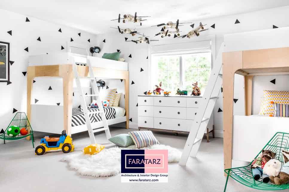 استنسیل کردن دیوار برای طراحی دکوراسیون اتاق کودکان