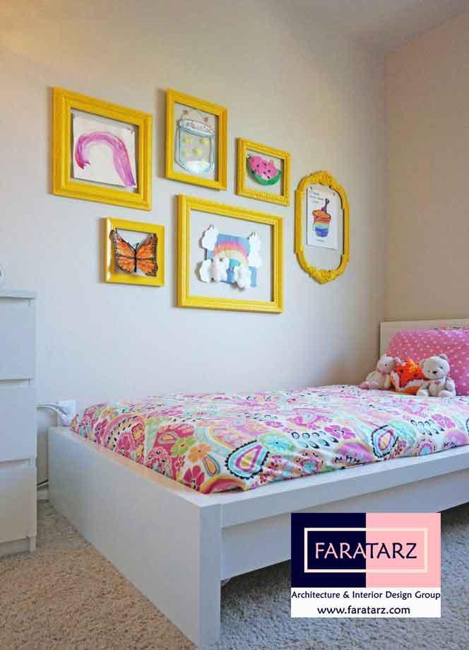 استفاده از قاب عکس در طراحی دکوراسیون اتاق کودکان