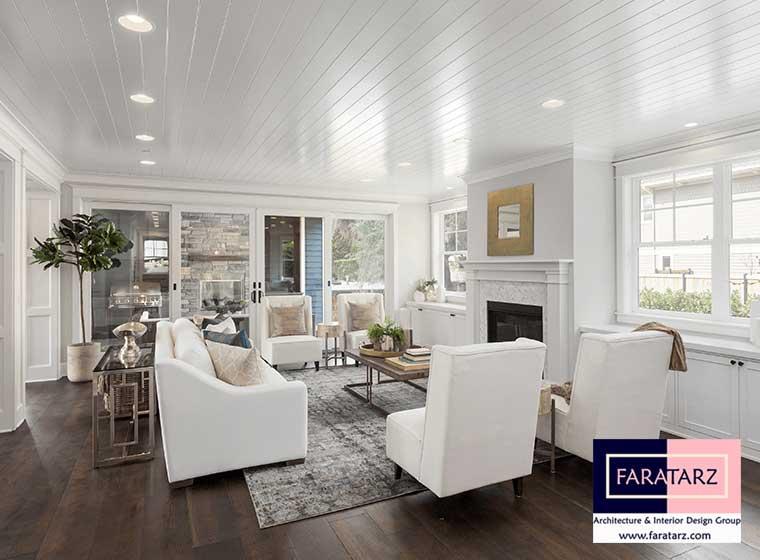 استفاده از رنگ های سفید برای پوشش رنگ سقف