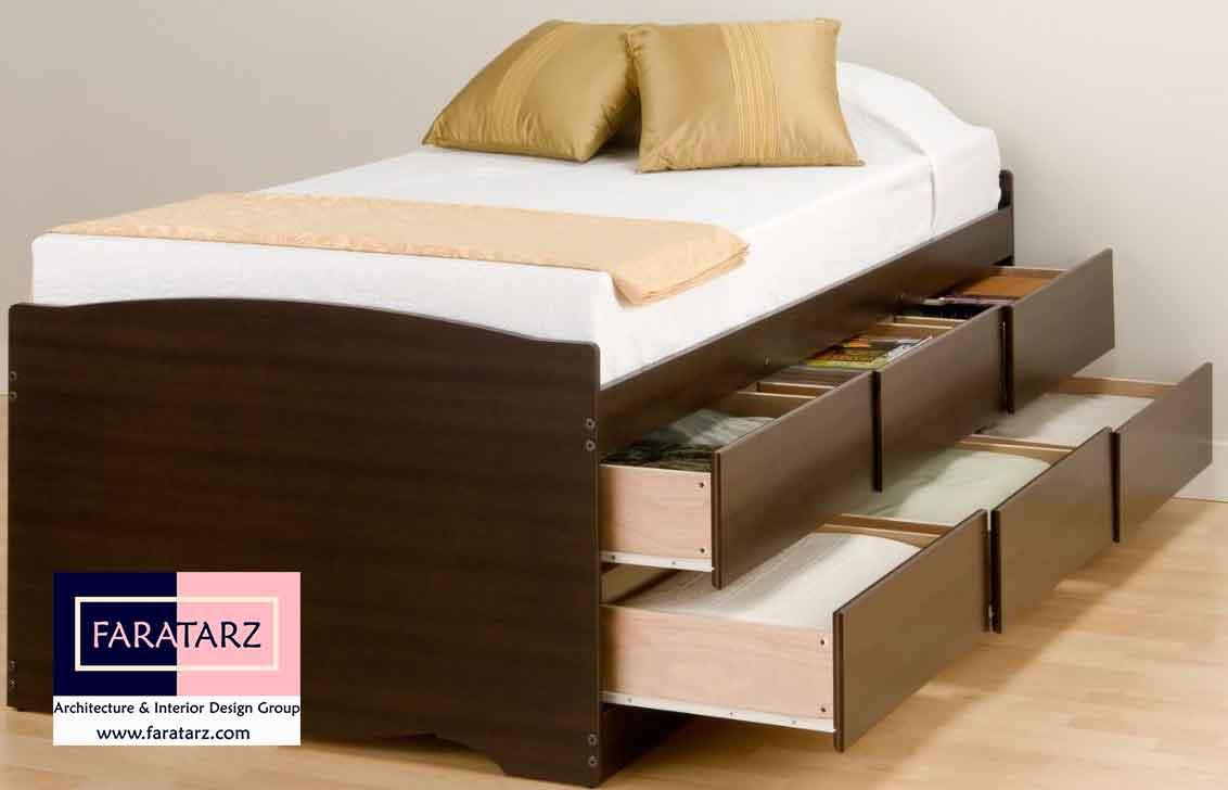 تخت خواب های کشودار چند منظوره در اتاق خواب