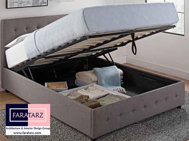 تخت خواب های پاپ آپ چند منظوره در اتاق خواب مستر