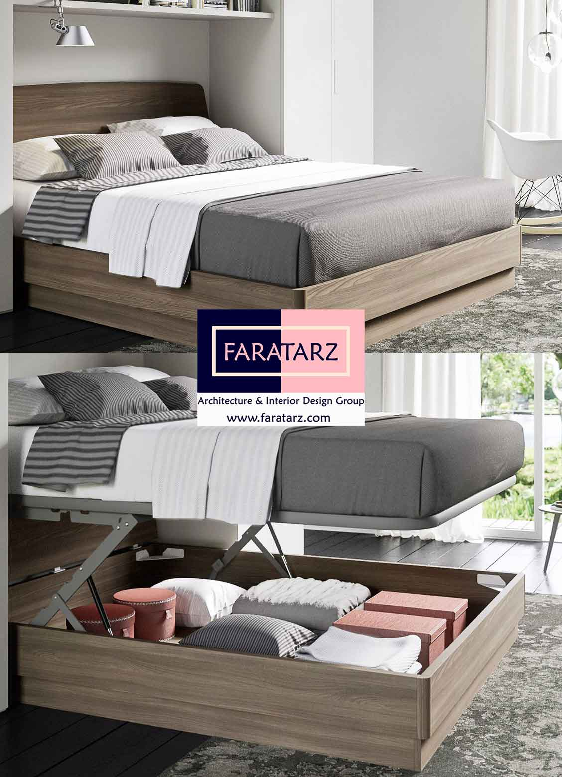 تخت خواب های پاپ آپ چند منظوره اتاق خواب