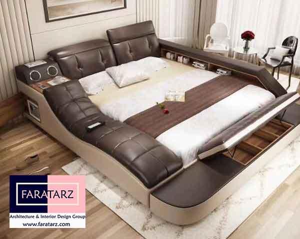 تخت خواب های چند منظوره هوشمند در اتاق خواب مستر